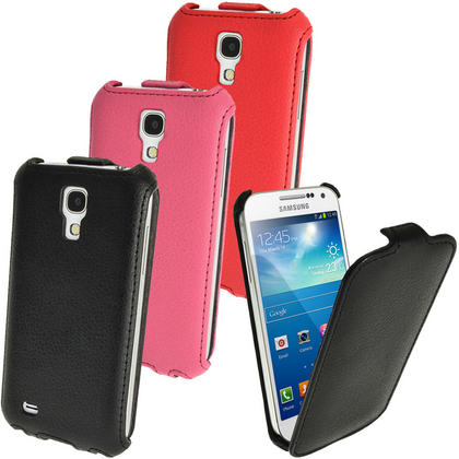 iGadgitz PU Leather Flip Case for Samsung Galaxy S4 SIV Mini I9190 I9195 Android Smartphone (various colours) Thumbnail 1