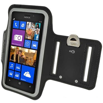 iGadgitz Black Reflective Anti-Slip Neoprene Sports Armband for Nokia Lumia 925 Thumbnail 5