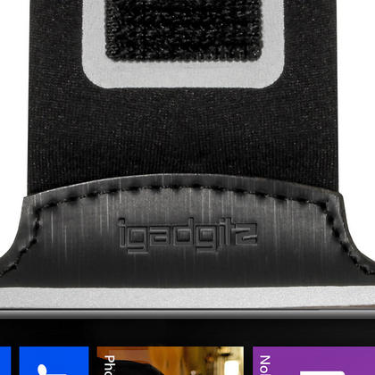 iGadgitz Black Reflective Anti-Slip Neoprene Sports Armband for Nokia Lumia 925 Thumbnail 6
