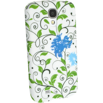 iGadgitz Blue Flower TPU Case with Rubberised Finish for Samsung Galaxy S4 I9500 I9505 & HTC One M7 + Screen Protector Thumbnail 4