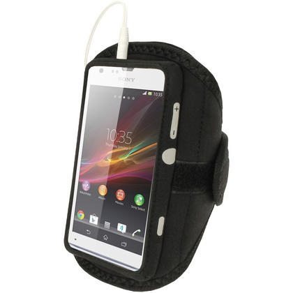 iGadgitz Black Neoprene Sports Gym Jogging Armband for Sony Xperia SP Android Smartphone Mobile Phone Thumbnail 3
