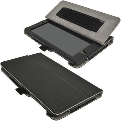 iGadgitz PU Leather Case for Google Nexus 7 FHD 2nd Gen Tablet (2013) With Sleep/Wake, Hand Strap + Screen Protector Thumbnail 2