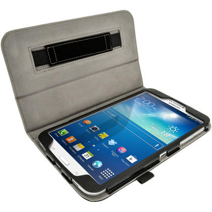 iGadgitz PU Leather Case for Samsung Galaxy Tab 3 8.0? SM-T310 T311 T315 With Sleep/Wake, Hand Strap + Screen Protector Thumbnail 3