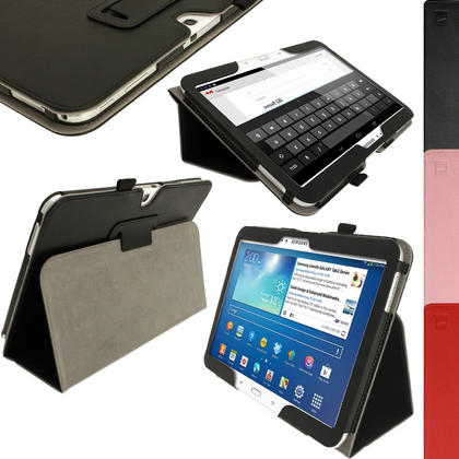 iGadgitz PU Leather Case for Samsung Galaxy Tab 3 10.1? GT-P5210 P5200 P5220, Sleep/Wake, Hand Strap + Screen Protector Thumbnail 1