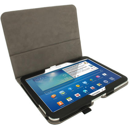 iGadgitz PU Leather Case for Samsung Galaxy Tab 3 10.1? GT-P5210 P5200 P5220, Sleep/Wake, Hand Strap + Screen Protector Thumbnail 3