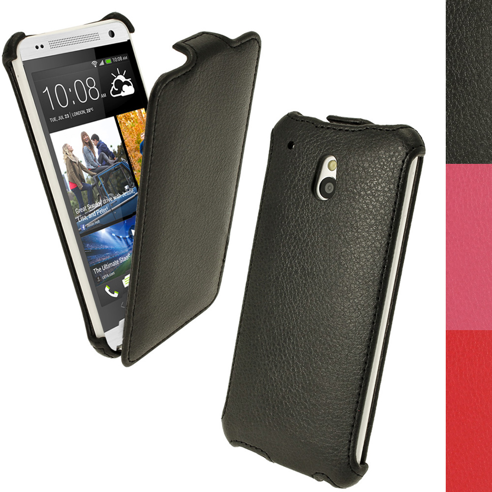 iGadgitz PU Leather Flip Case for HTC One Mini M4 Android Smartphone (various colours)