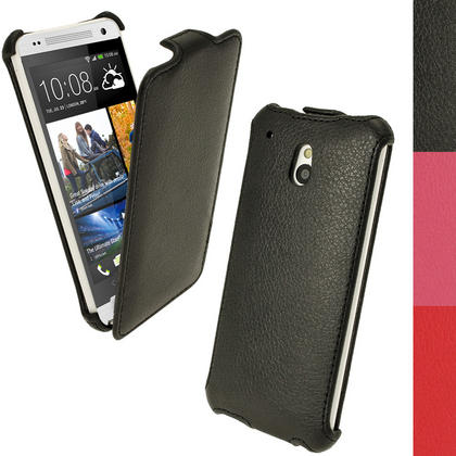 iGadgitz PU Leather Flip Case for HTC One Mini M4 Android Smartphone (various colours) Thumbnail 1