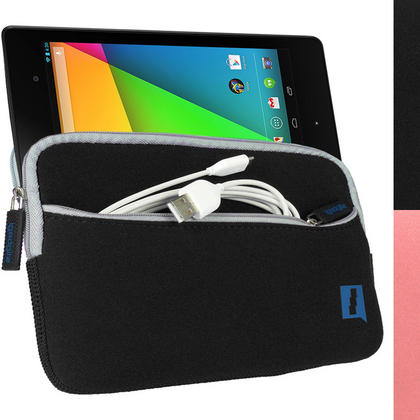 iGadgitz Neoprene Sleeve Case with Front Pocket for Google Nexus 7 2nd Gen Tablet (released Aug 2013) (various colours) Thumbnail 2