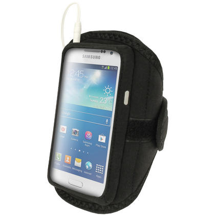 iGadgitz Black Neoprene Sports Armband for Samsung Galaxy S4 Mini GT-i9195 i9190 GT-i9195X Thumbnail 3