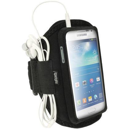 iGadgitz Black Neoprene Sports Armband for Samsung Galaxy S4 Mini GT-i9195 i9190 GT-i9195X Thumbnail 1