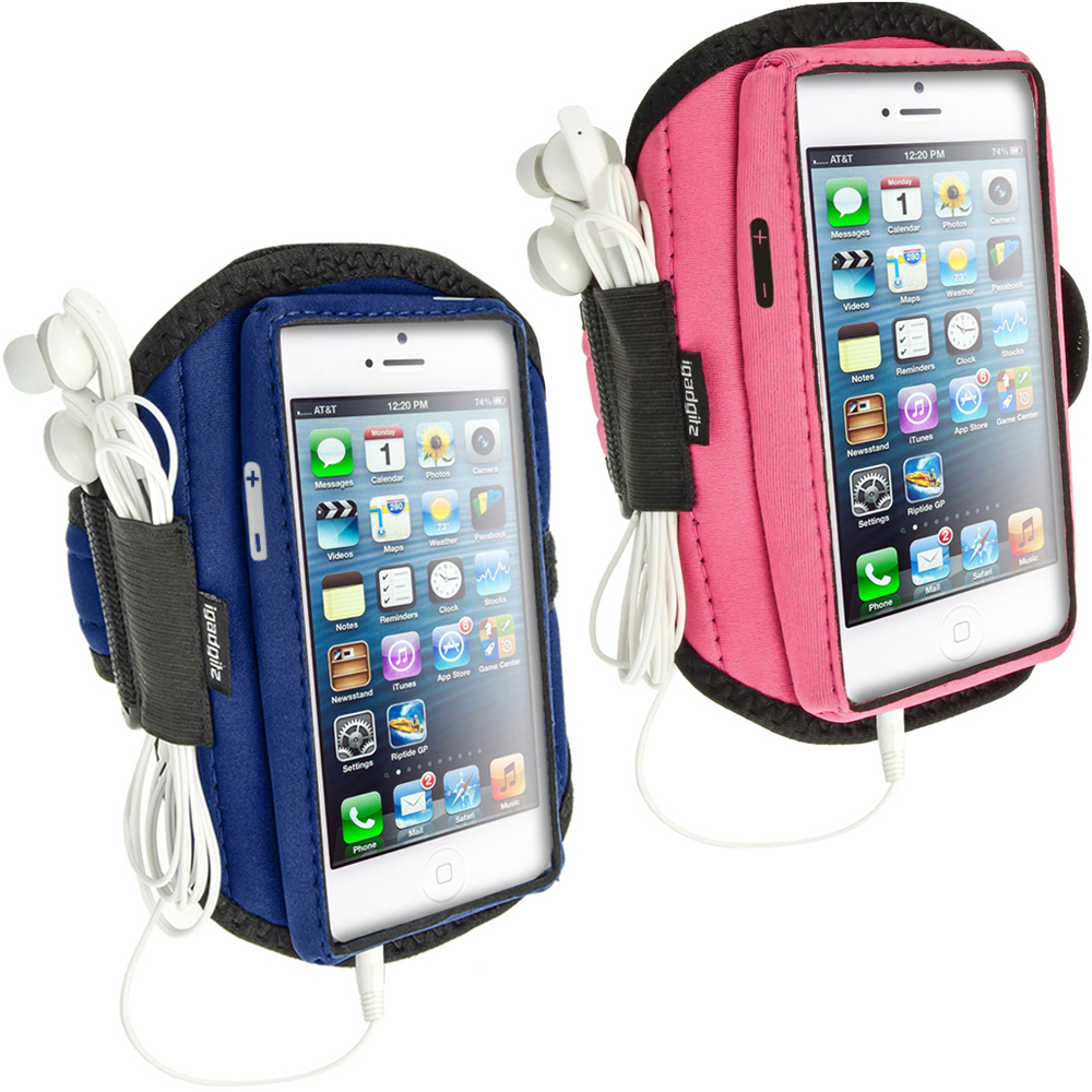 iGadgitz Water Resistant Neoprene Sports Armband for Apple iPhone 5, 5S, 5C, SE Mobile Phone 4G LTE (various colours)