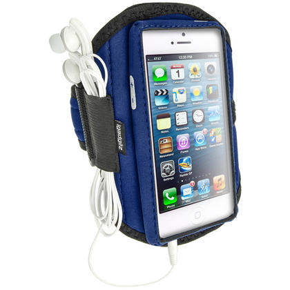 iGadgitz Water Resistant Neoprene Sports Armband for Apple iPhone 5, 5S, 5C, SE Mobile Phone 4G LTE (various colours) Thumbnail 2
