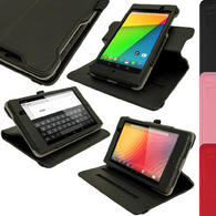 iGadgitz 360° Rotating Detachable PU Leather Case for Google Nexus 7 FHD 2nd Gen 2013 With Sleep/Wake + Screen Protector