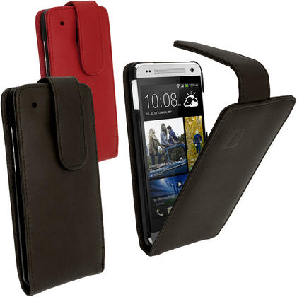 iGadgitz Leather Case for HTC One Mini M4 Android Smartphone + Screen Protector (various colours) Thumbnail 1