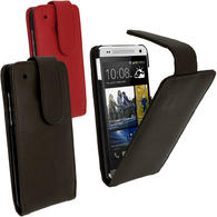 iGadgitz Leather Case for HTC One Mini M4 Android Smartphone + Screen Protector (various colours)