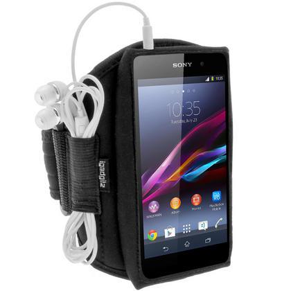 iGadgitz Black Sports Armband for Sony Xperia Z1 Honami C6902 L39H C6903 C6906 C6943 (Not suitable for Z1 F Mini) Thumbnail 3