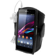 iGadgitz Black Sports Armband for Sony Xperia Z1 Honami C6902 L39H C6903 C6906 C6943 (Not suitable for Z1 F Mini)