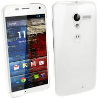 iGadgitz Clear PC Hard Case Cover for Motorola Moto X Android 4.2 Jelly Bean Smartphone + Screen Protector