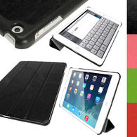 iGadgitz PU Leather Case with Hard Back for Apple iPad Air (Oct 2013) With Sleep/Wake + Screen Prot. (various colours)