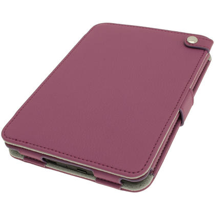 iGadgitz Purple PU 'Bi-View' Leather Case for Amazon Kindle Paperwhite 2015 2014 2013 2012 With Sleep/Wake & Hand Strap Thumbnail 2