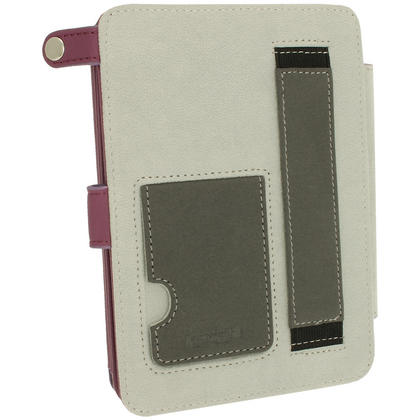 iGadgitz Purple PU 'Bi-View' Leather Case for Amazon Kindle Paperwhite 2015 2014 2013 2012 With Sleep/Wake & Hand Strap Thumbnail 5