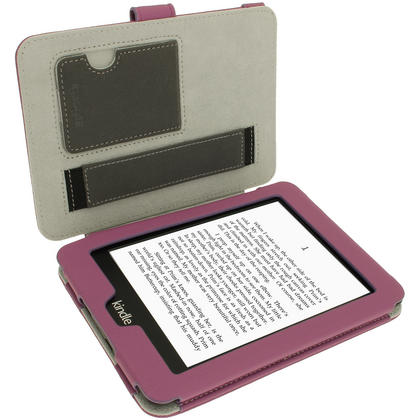 iGadgitz Purple PU 'Bi-View' Leather Case for Amazon Kindle Paperwhite 2015 2014 2013 2012 With Sleep/Wake & Hand Strap Thumbnail 3