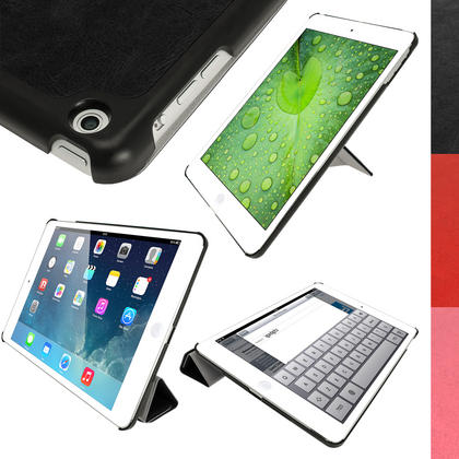 iGadgitz PU Leather Case with Hard Back for Apple iPad Air (Oct 2013) With Sleep/Wake + Screen Prot. (various colours) Thumbnail 1