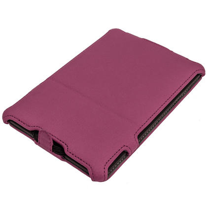 iGadgitz Purple PU 'Heat Molded' Leather Case Cover forAmazon Kindle Paperwhite 2015 2014 2013 2012 + Sleep Wake Thumbnail 2