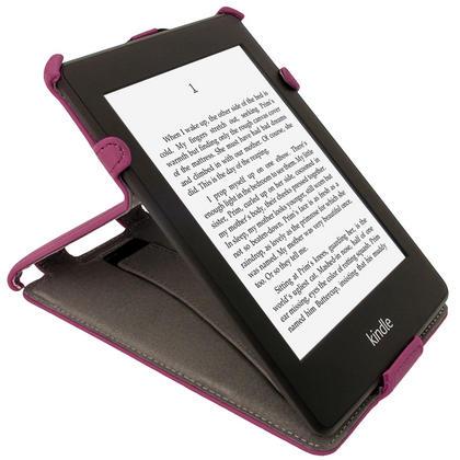 iGadgitz Purple PU 'Heat Molded' Leather Case Cover forAmazon Kindle Paperwhite 2015 2014 2013 2012 + Sleep Wake Thumbnail 7