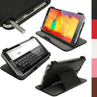 iGadgitz Black PU Leather Flip Case Cover Holder for Samsung Galaxy Note 3 III Android Smartphone + Screen Protector