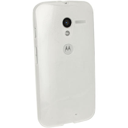 iGadgitz Frosted Clear Glossy Gel Case for Motorola Moto X 4.2 Jelly Bean Smartphone + Screen Protector Thumbnail 3