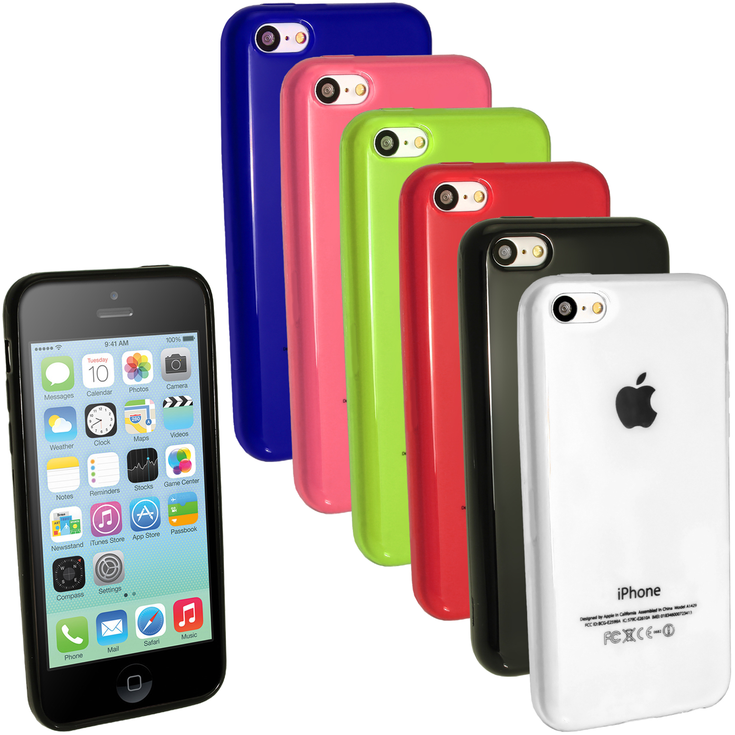 iGadgitz Crystal Gel Case for Apple iPhone 5C + Screen Protector (NOT suitable for iPhone 5 & 5S) (various colours)