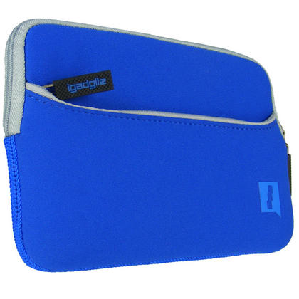 iGadgitz Blue Neoprene Sleeve with Front Pocket for Samsung Galaxy Tab 1, 2, 3 7.0? P1000 P1010 P3110 P3100 T210 T211 Thumbnail 4