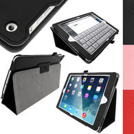 iGadgitz 'Ergo-Portfolio' PU Leather Case for Apple iPad Air Oct 2013 with Sleep/Wake + Screen Prot. (various colours)