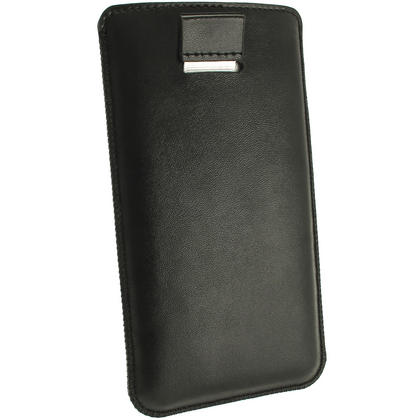 iGadgitz Black Leather Pouch Case Cover for HTC One Mini M4 Android Smartphone Mobile Phone Thumbnail 4