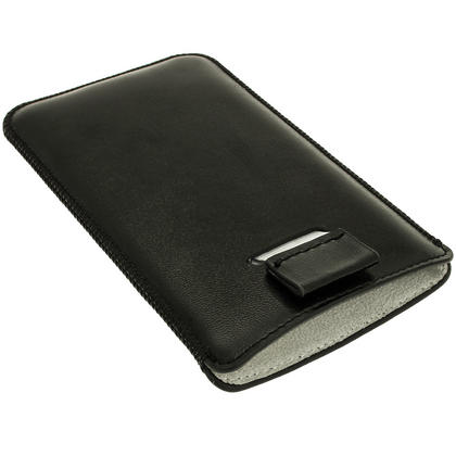 iGadgitz Black Leather Pouch Case Cover for HTC One Mini M4 Android Smartphone Mobile Phone Thumbnail 6