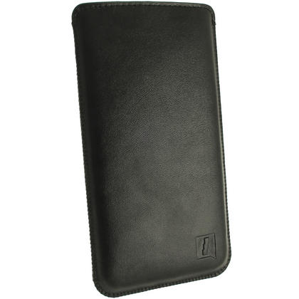 iGadgitz Black Leather Pouch Case Cover for HTC One Mini M4 Android Smartphone Mobile Phone Thumbnail 3