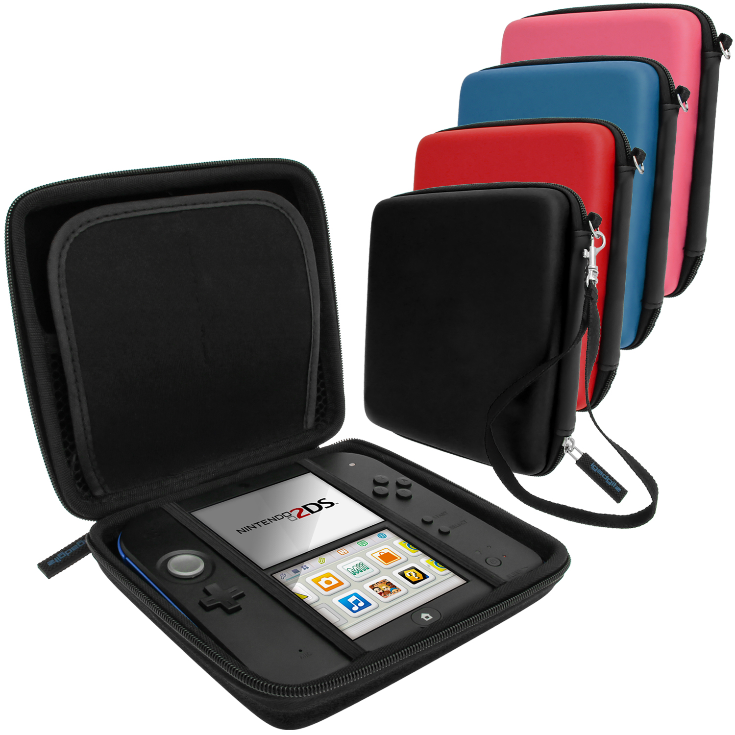 iGadgitz EVA Hard Protective Storage Case Cover with Carry Handle for Nintendo 2DS (various colours)