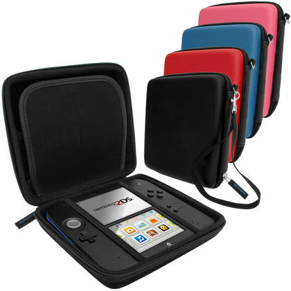 iGadgitz EVA Hard Protective Storage Case Cover with Carry Handle for Nintendo 2DS (various colours) Thumbnail 1