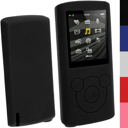 iGadgitz Silicone Skin Case Cover for Sony Walkman NWZ-E384 4GB 8GB + Screen Protector (various colours) Thumbnail 1