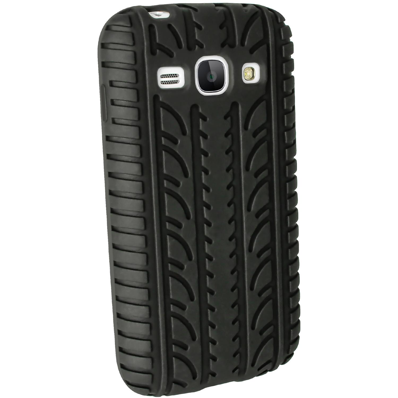 IGadgitz Black Tyre Tread Silicone Case For Samsung Galaxy