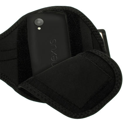 iGadgitz Black Neoprene Sports Armband for LG Google Nexus 5 LG-D820 LG-D821 4G LTE 16GB 32GB Thumbnail 3