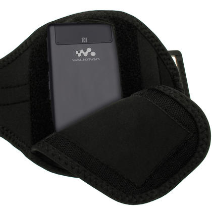 iGadgitz Black Neoprene Sports Armband for Sony Walkman NWZ-F886 NWZ-F887 F-Series Video MP3 Player 32GB 64GB Thumbnail 3