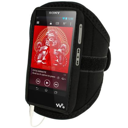 iGadgitz Black Neoprene Sports Armband for Sony Walkman NWZ-F886 NWZ-F887 F-Series Video MP3 Player 32GB 64GB Thumbnail 2