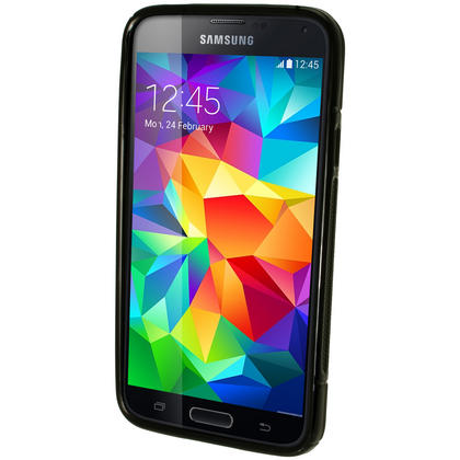 iGadgitz S-Line TPU Gel Skin Case Cover for Samsung Galaxy S5 SV SM-G900 + Screen Protector (various colours) Thumbnail 3