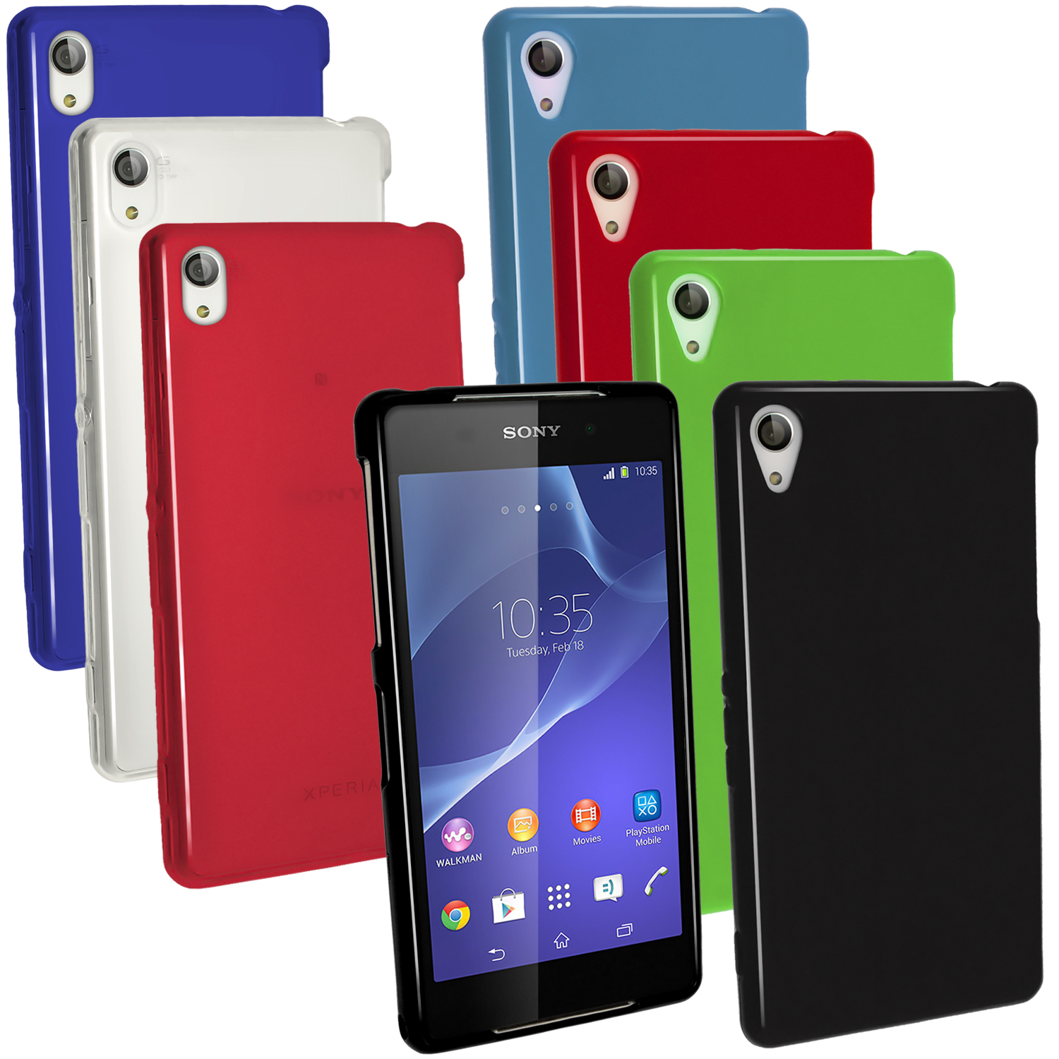 online store bf385 b10ee Details about Glossy TPU Gel Skin Case Cover for Sony Xperia Z2 D6503 +  Screen Proctector
