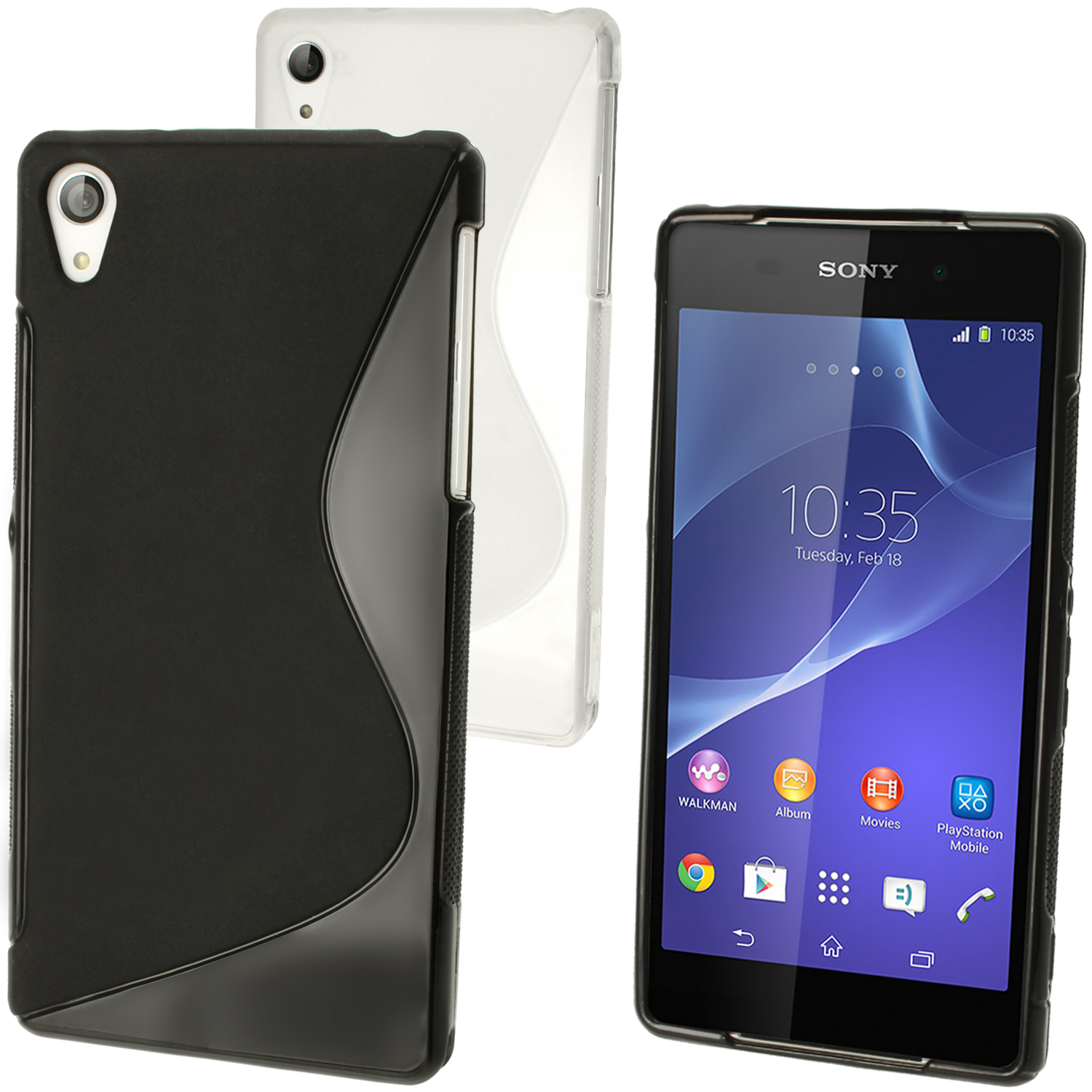 iGadgitz S-Line Gel TPU Skin Case Cover for Sony Xperia Z2 D6503 + Screen Protector (various colours)