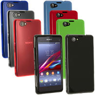 iGadgitz Glossy TPU Skin Case Cover for Sony Xperia Z1 Compact D5503 + Screen Proctector (various colours)