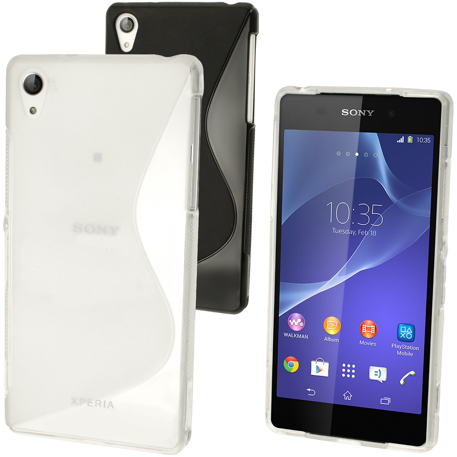 buy popular 599e0 a1295 Details about S-Line Gel TPU Skin Case Cover for Sony Xperia Z2 D6503 +  Screen Protector
