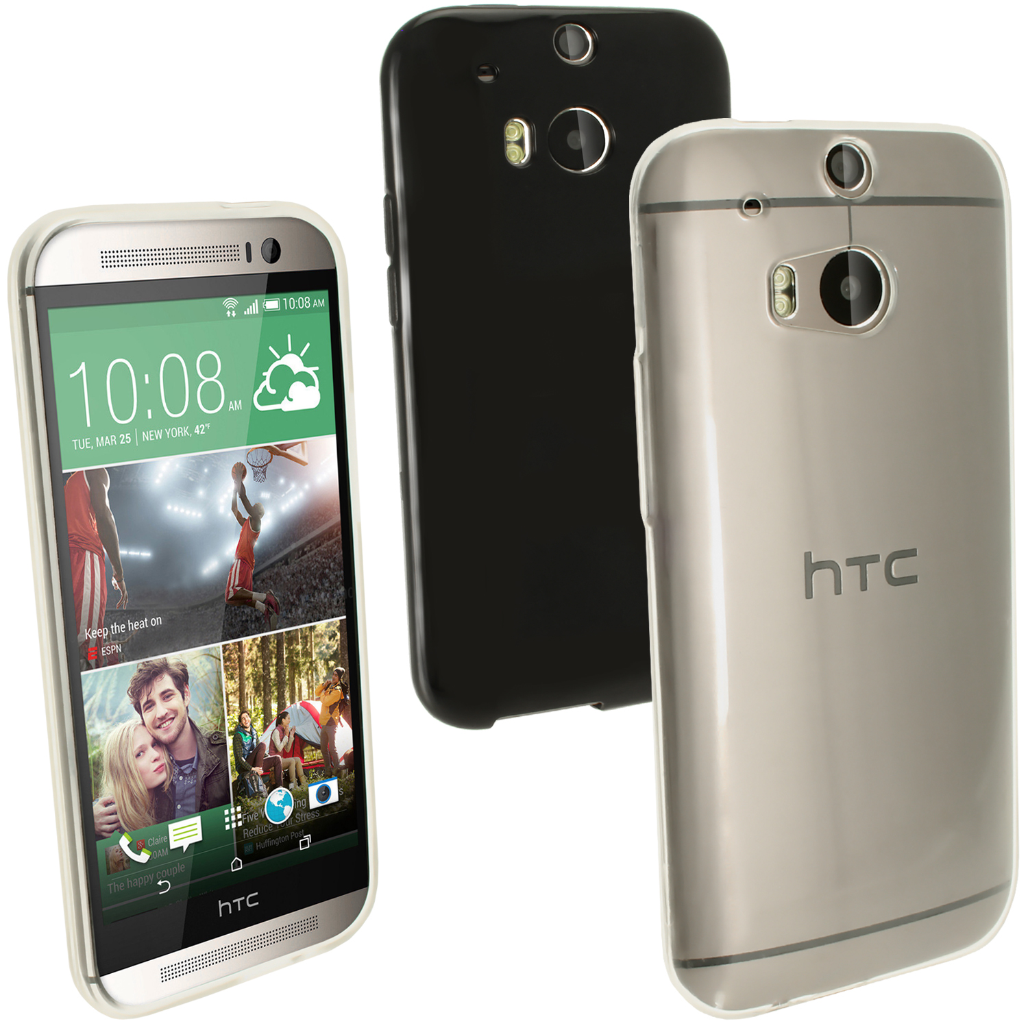 d3c99418b89 Glossy TPU Gel Skin Protect Case Cover for HTC One M8 2014 + Screen  Proctector